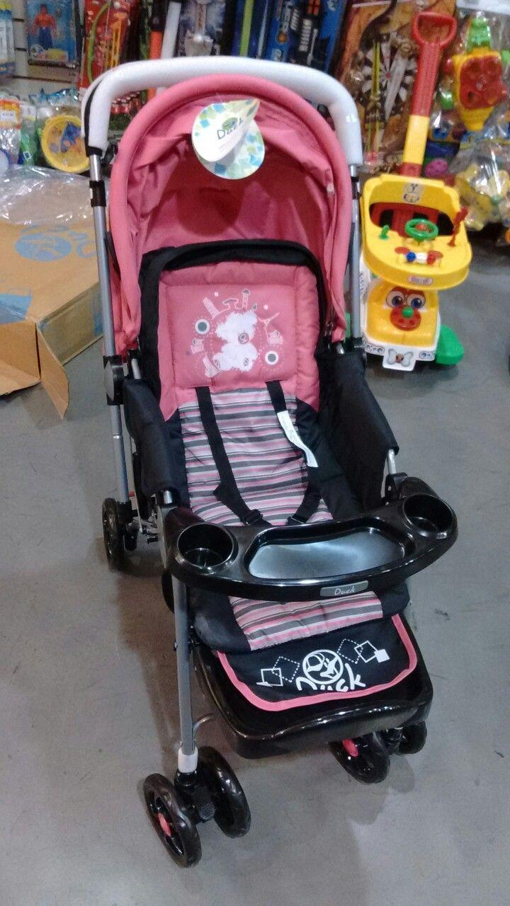 Coche de bebé rosa