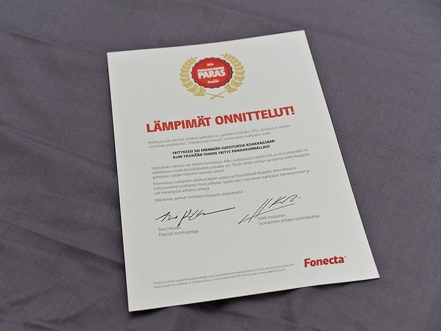 Saatekirje, Paikkakunnan paras 2011 -kilpailu by PauliinaMakela, via Flickr