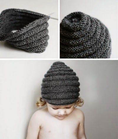 A beautiful modified beanie pattern converted to fit a 12- 24 month old child.