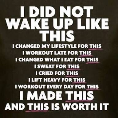 Work hard and you'll be able to say this! Make changes for a healthier you, every day. #goals💪 #healthylifestyle #lovinglifejourney #fitlife