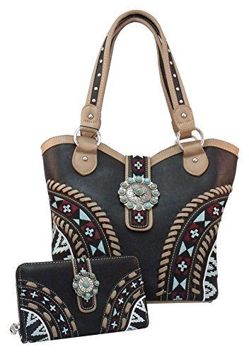Montana West Aztec Concealed Carry Purse & Matching Wallet Set, Gun Handbag Holster Concealment CCW Bag Black Montana West http://smile.amazon.com/dp/B00NEX0BNQ/ref=cm_sw_r_pi_dp_ZlKdub1C9AYEY