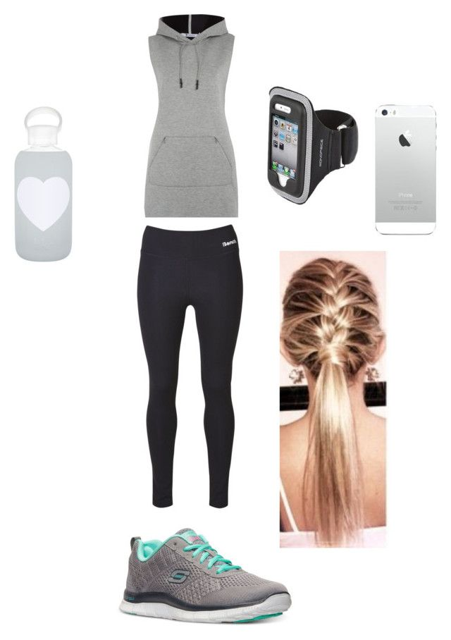 """""""Jogging outfit #1"""" by kura01 ❤ liked on Polyvore featuring T By Alexander Wang, Bench, Skechers and bkr"""