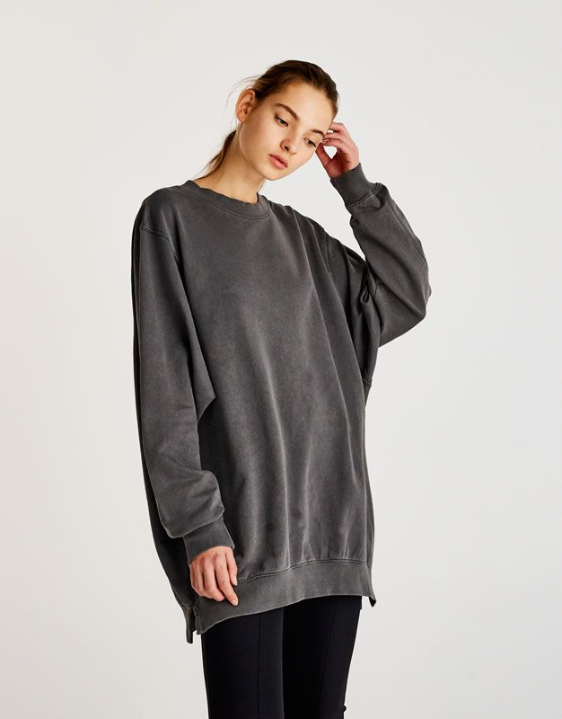 Aberturas Novedades Oversize Mujer Sudadera Laterales Sw4q5nZxC