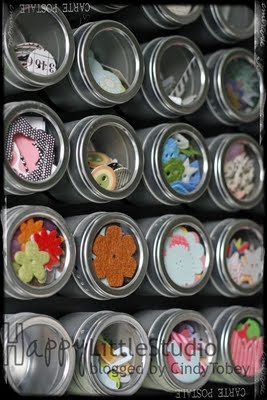 Small magnetic containers for smaller crafting items that get lost in the bottom of a bin.