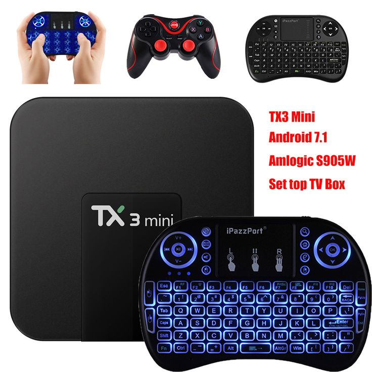 TX3 Mini <b>Android 7.1 TV Box</b> S905W Amlogic S905W Smart TV Box ...