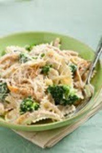Bowtie Chicken and Broccoli Alfredo