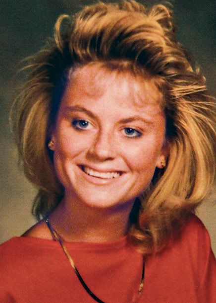 Amy Poehler rocking a nice hairstyle in her high school yearbook photo 1989
