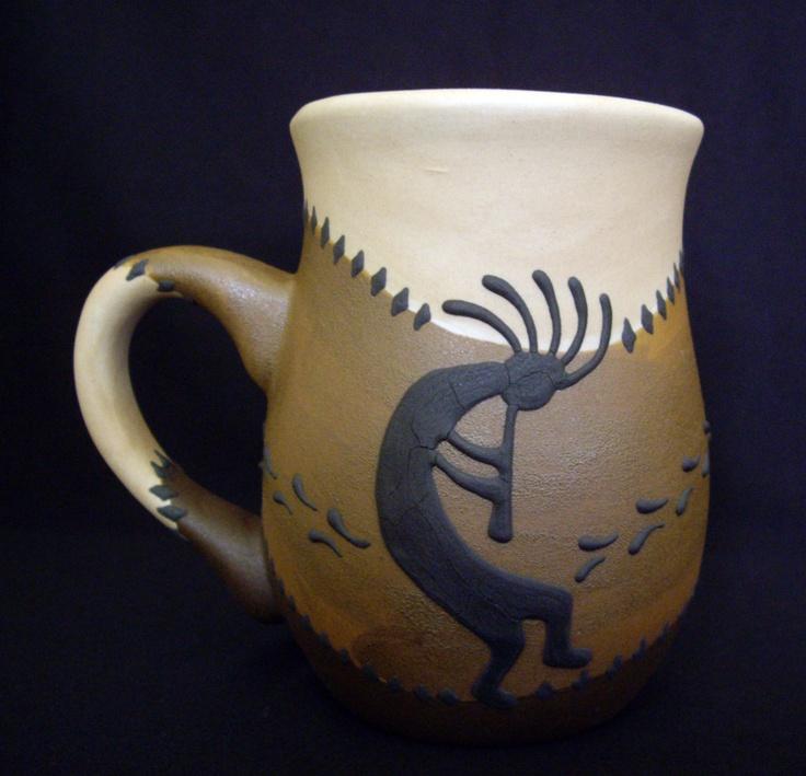 Kokopelli Stoneware Coffee Mug - Southwestern Mugs. $17.95, via Etsy.