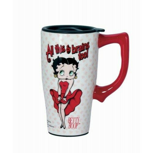 "🚨NEW ITEM🚨""All This & Brains Too Betty Travel Mug""  With a locking lid and a skid plated bottom it is the perfect travel companion. The double wall insulation keeps drinks hot or cold and it is both microwave and dishwasher safe. Holds 16oz.💰16.95💰  #Gift #Gifts  #Like #Share #TagAFriend #TellAFriend #GiftShop #BerryLane #Berry #Lane  #Shopping #ShopSmall #SmallBusiness #GiftsAndMore #Sale #BlackBusiness #ShopBlack #Her #GiftsForHer #ForHer #Mom #Mother #Moma #Mama #Betty #Boop…"