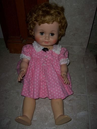 "Vintage MME 1950's Alexander Rubber 24"" Drink & Wet DollDolls Tiny Cutie, Beautiful Dolls, Wet Dolls"