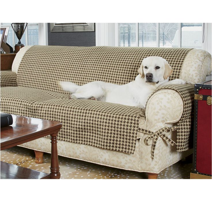 Houndstooth Furniture Protectors - Dog Beds, Gates, Crates, Collars, Toys, Dog Clothing & Gifts