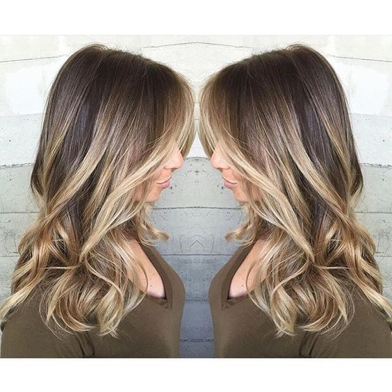 { Hot blonde winter balayage }