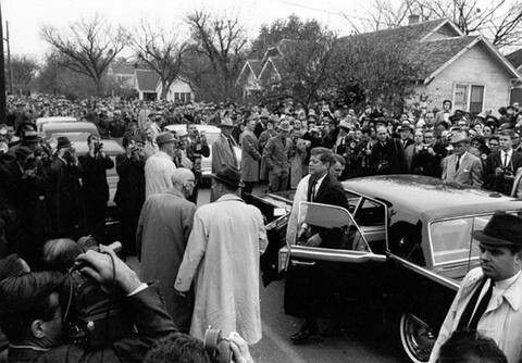Funeral for Sam Rayburn- President Kennedy attended ...
