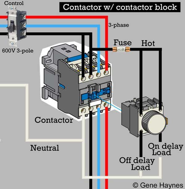 1 Pole Contactor Wiring Diagram