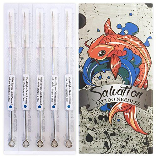 Salvation Tattoo Needles  100 Pcs  7RL  Disposable  Sterilized  7 Round Liner ** You can find more details by visiting the image link. Note:It is Affiliate Link to Amazon.