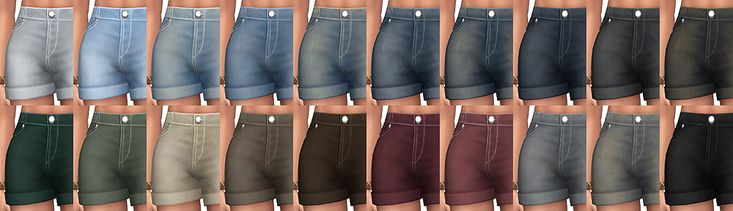 """simsontherope: """"  Denim Shorts for the Sims 4 I've been quiet, lately, because instead of playing with pets, I was sorting all the CAS stuff I downloaded, to only keep a few things. I went from 5Go…...."""
