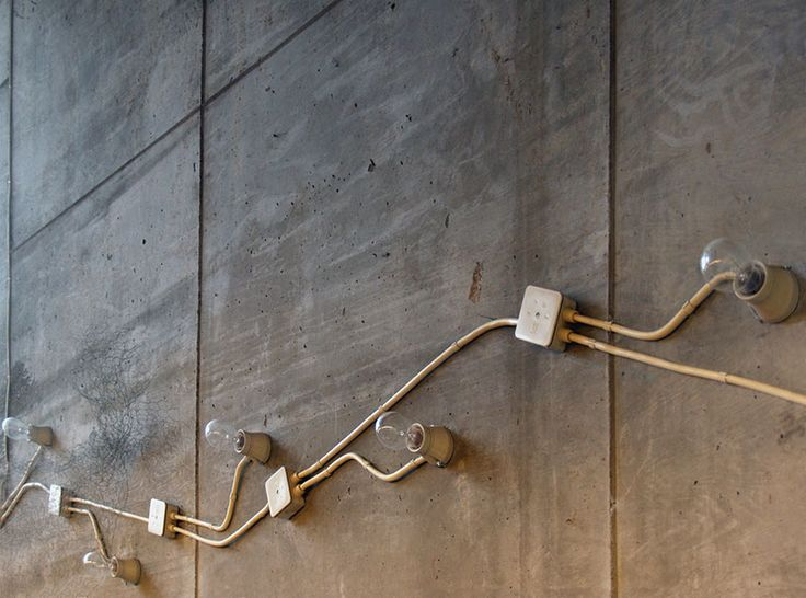 Detail of exposed electrical installation. Photo by Seier + Seier, from Lewerentz flickr set: https://www.flickr.com/photos/seier/sets/72157600288780668/with/2340686947/