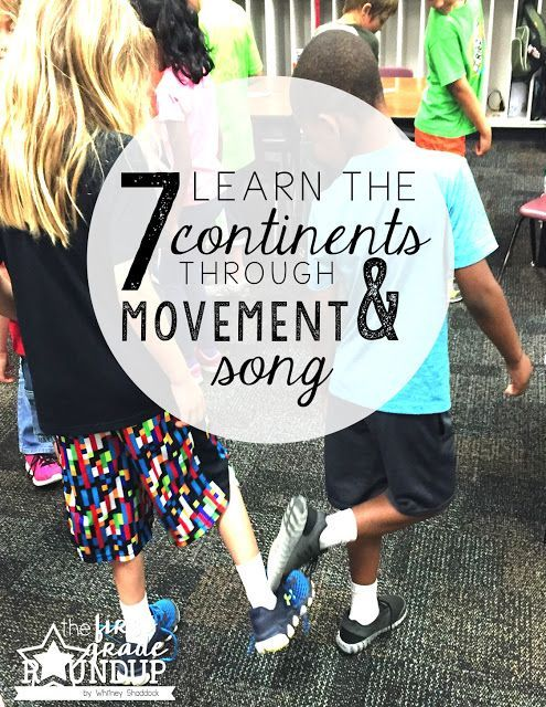 Learn the 7 continents through movement and song! Super engaging and fun :)