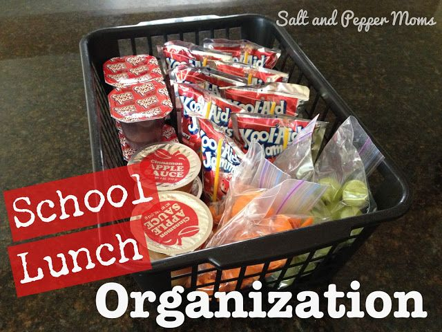 Salt and Pepper Moms: School Lunch Organization