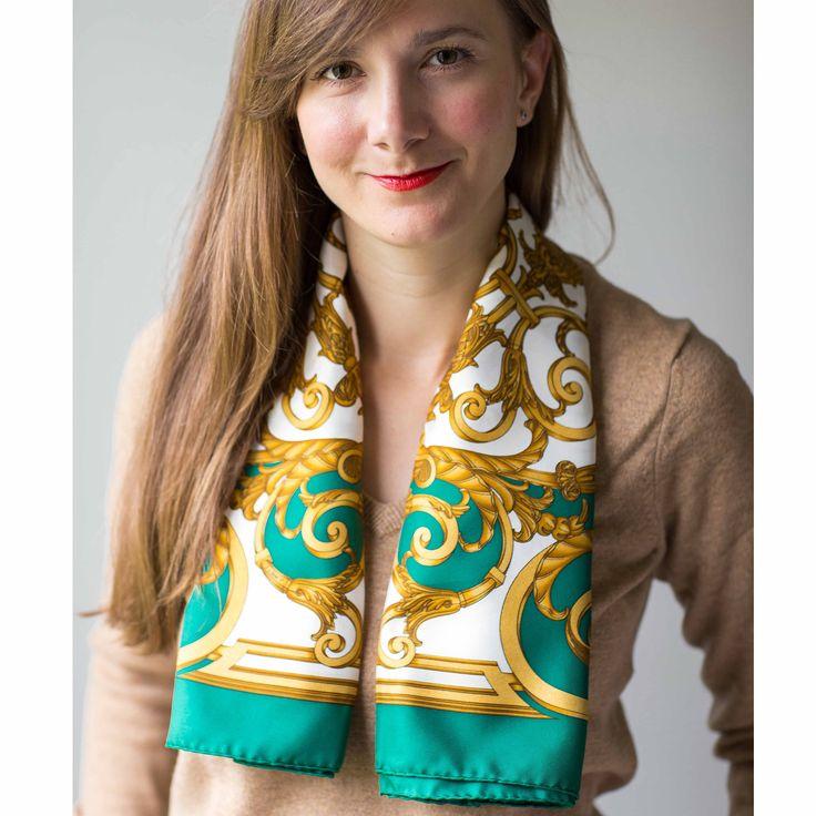 Silk Square Scarf - FashionGreen by VIDA VIDA M2YXLKCx6q
