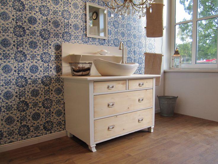 16 besten Waschtisch Gästebad antik Bilder auf Pinterest ... | {Badmöbel landhaus modern 84}
