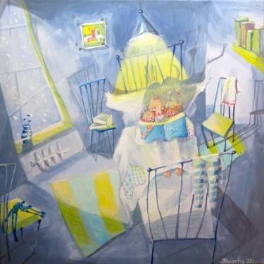 "Saatchi Art Artist Alexandra Krasuska; Painting, ""Just a story"" #art"
