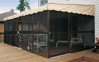Patio-Mate Screened Enclosure...cheap way to have a screened in patio if your house doesn't have one