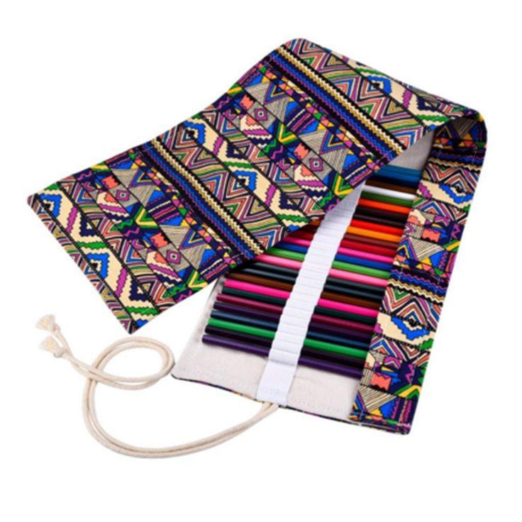 36/48/72 Beauty Portable School Pencil Case Escolar Estuche Box Stationery Cute Estojo Canvas Pen Roll Up Bag Curtain Pencils #clothing,#shoes,#jewelry,#women,#men,#hats,#watches,#belts,#fashion,#style