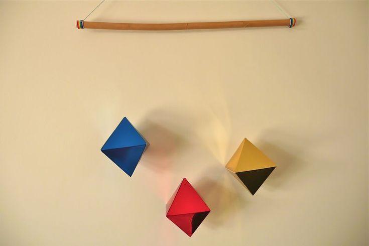 octahedron mobile via how we montessori