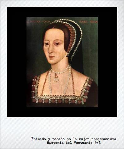 ''Peinado y tocado en a mujer en la época Renacentista.''