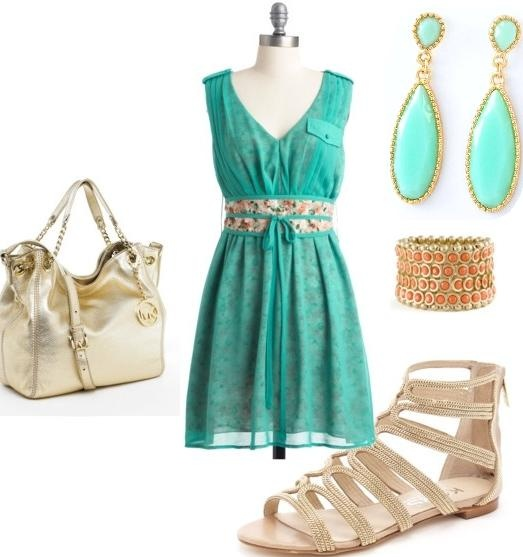 Summer of 2013 Trend: MINT and GOLD (Mint Earrings are $15 and Free USA Shipping)