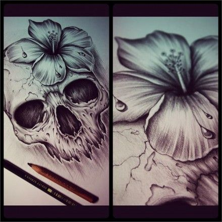 Skull Ink Designs by Edward Miller