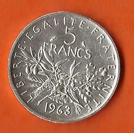 Les Francs .... pièce en argent de 1963 de temps en temps au milieu des sous on trouvait une pièce en argent.
