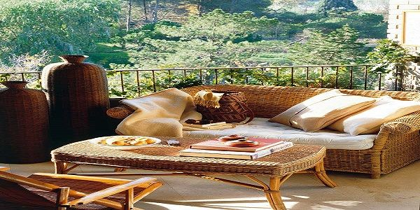 Romantic Terrace Design with Rattan Outdoor Furniture