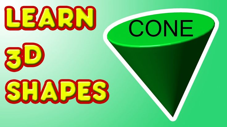 Learn 3D Shapes - CONE - Fun kindergarten lesson for kids (+playlist)
