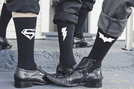 Wedding Socks // Superhero Socks / by Weddingsocksandunder on Etsy