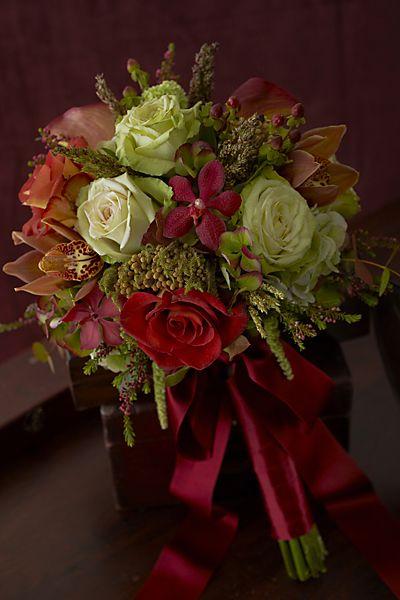 Rich Hue Fall Wedding Flower Ideas
