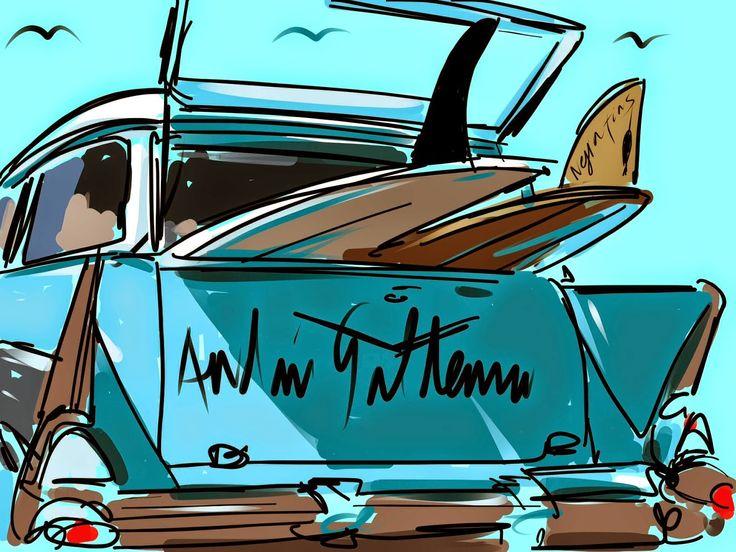Longboard Retro Days: Surf Art | ANDONI GALDEANO
