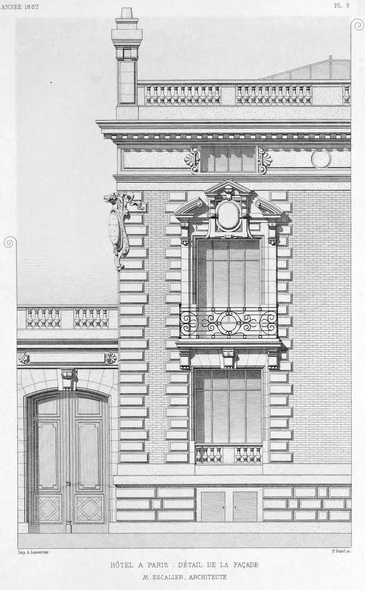 Partial elevation of a hotel particulier, Paris