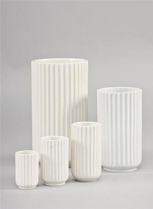 White porcelain vases from Lyngby Porcelæn. #allgoodthings #danish spotted by @missdesignsays