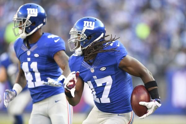 New York Giants KR Dwayne Harris exits with toe injury