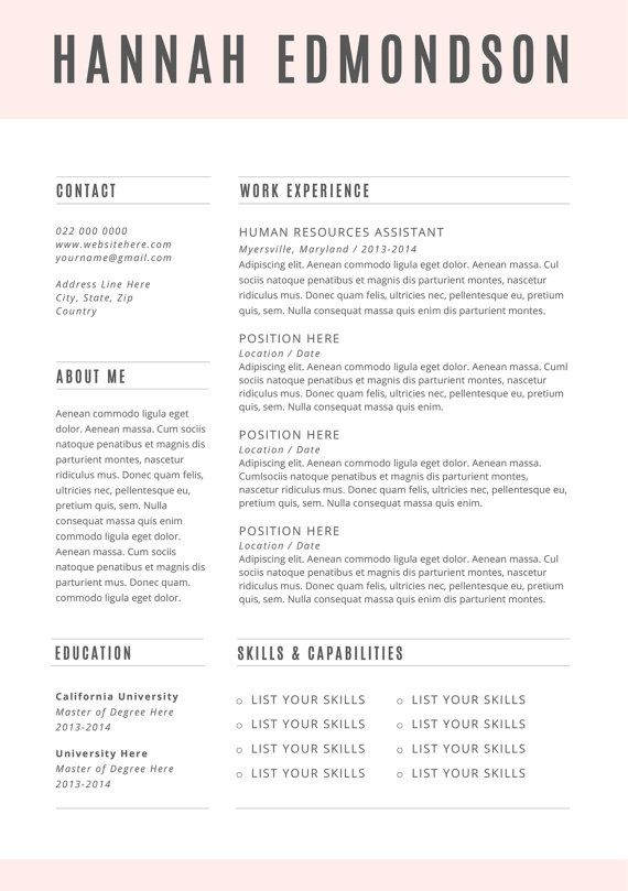 21 best Gorgeous Resume Designs images on Pinterest Design - resume template microsoft word 2013