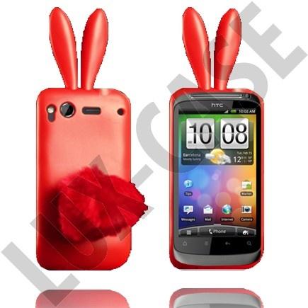 HTC Desire S Punaiset pupu suojakuoret!