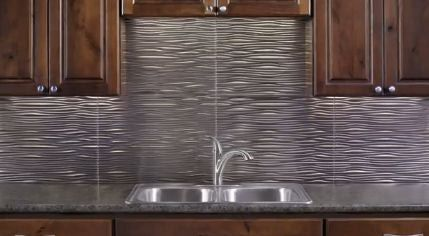 Peel And Stick Glass Backsplash Textured Backsplash