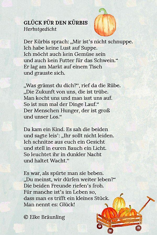 Glück für den Kürbis | Autumn | Autumn activities for kids ...