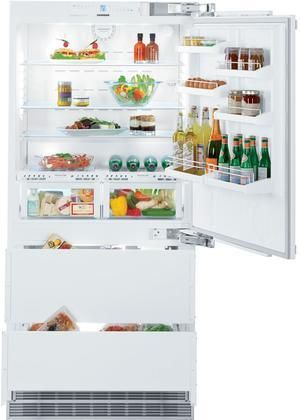 """HCB2060 36"""" Energy Star Rated Fully Integrated Right Hinge Bottom Freezer Refrigerator with 18.8 cu. ft. Total Capacity BioFresh IceMaker and 2 Glass Refrigerator Shelves in Panel Ready"""