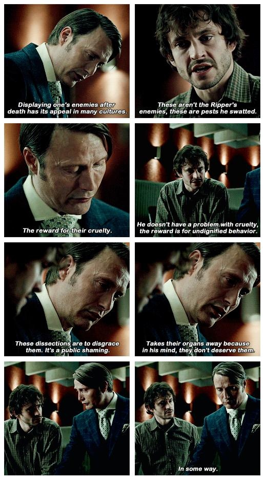 Hannibal knows better that Will can imagine... #hannibal #nbc