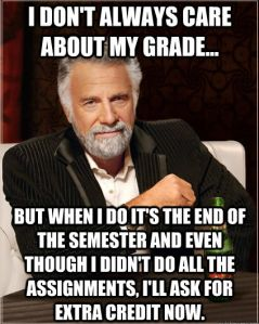 How I imagine several students reacting to progress reports and test grades this semester...