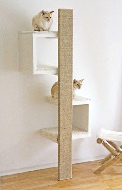 A cheap designer cat tree! Scratching furniture with a beautiful design