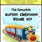 Autism Classroom Complete Visuals Kit -Train Theme PLUS KINDERGARTEN I CAN Common Core statement cards!  This train theme visuals kit is all that y...